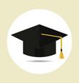 graduation cap in flat style vector image