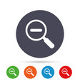 magnifier glass sign icon zoom tool navigation vector image