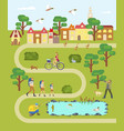 village map with road vector image