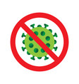 virus or bacteria icon vector image