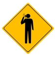 Road sign Man working vector image