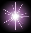 abstract laser beams with sparks purple color vector image vector image