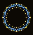 Abstract round frame with pattern