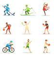 adult people practicing different olympic sports vector image