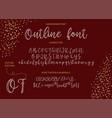 alphabet typeface hand drawn modern vector image vector image