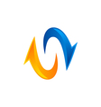 arrow balance direction logo vector image