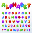 balloon alphabet character set vector image vector image