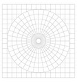 blank protractor - actual size graduation isolated vector image vector image