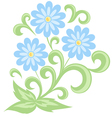 Blue daisies in soft colors Isolated on white vector image vector image