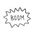 boom comic book explosionhand draw vector image