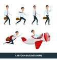 Business person walking to the success vector image vector image