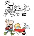 Cartoon gardener design vector image vector image
