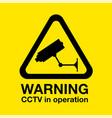 cctv warning sign vector image