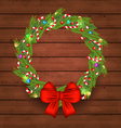 Christmas holiday decoration wreath garland vector image vector image