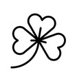 clover feast of saint patrick line icon vector image vector image