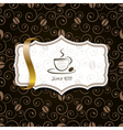 coffee background with ribbon vector image vector image