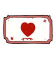 comic cartoon love heart frame vector image vector image