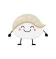 cute cartoon sushi character kawai sushi vector image vector image