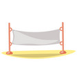 cute cartoon volleyball net vector image vector image