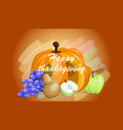 dedicated to thanksgiving in c vector image vector image