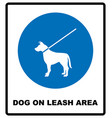 dog on leash area icon dogs allowed sign vector image vector image
