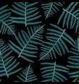 fern leaves seamless pattern vector image