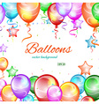 Festive background balloons vector image