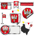 flag greater poland vector image vector image