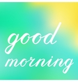 Good morning brush lettering vector image