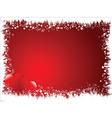 grunge heart border vector image vector image
