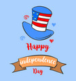 hand draw independence day card celebration vector image vector image