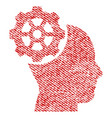 head gear fabric textured icon vector image