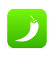 hot chili pepper icon digital green vector image vector image