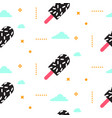 ice cream seamless pattern 90s style vector image vector image