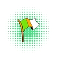Irish flag icon comics style vector image vector image