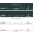 kabul single line skyline banner vector image vector image