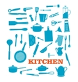 Kitchenware objects set vector image