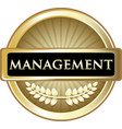 management gold label vector image vector image