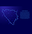 map bosnia and herzegovina from the contours vector image vector image
