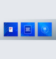 minimal square banner design colorful halftone vector image vector image