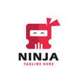 modern ninja head logo vector image