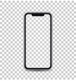 new black concept of mobile phone with camera and vector image vector image