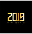 new year 2019 golden text vector image