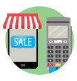 online payment and purchase icon app vector image vector image