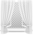 Open window with curtains on a transparent vector image vector image