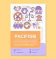 pacifism poster template layout peaceful vector image vector image