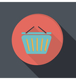 paper flat icon cart online store vector image vector image