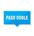 paso doble price tag vector image vector image