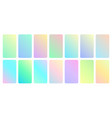 pastel gradient set beauty turquoise soft vector image