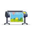 plotter printer large format vector image